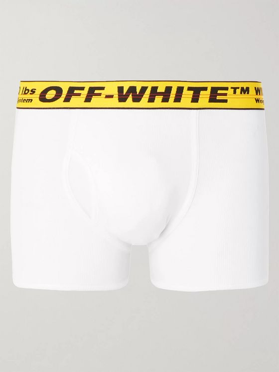 Off-White Stretch-Cotton Boxer Briefs