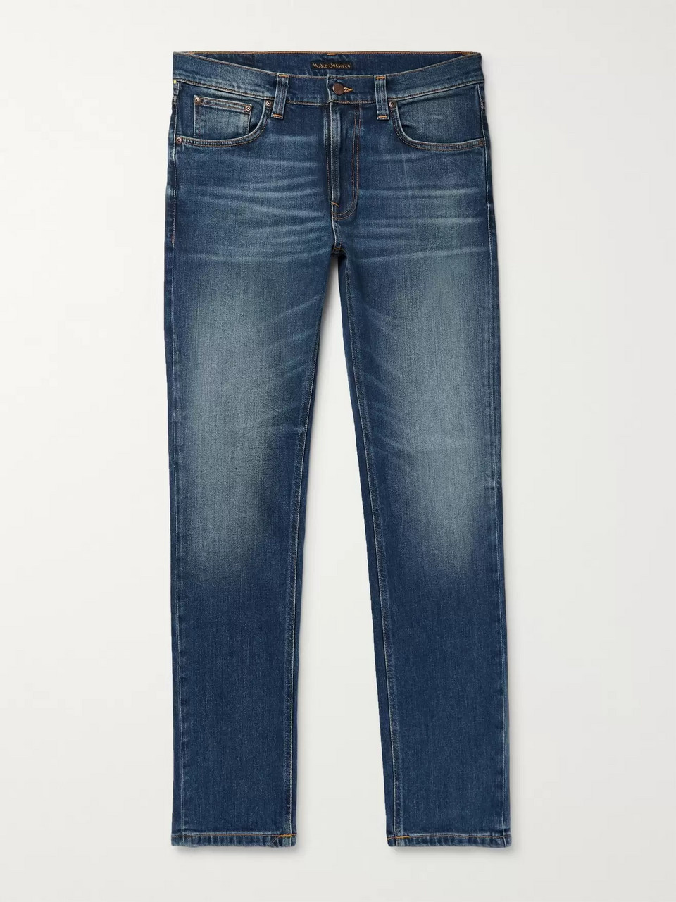 Nudie Jeans Lean Dean Slim-Fit Tapered Organic Stretch-Denim Jeans