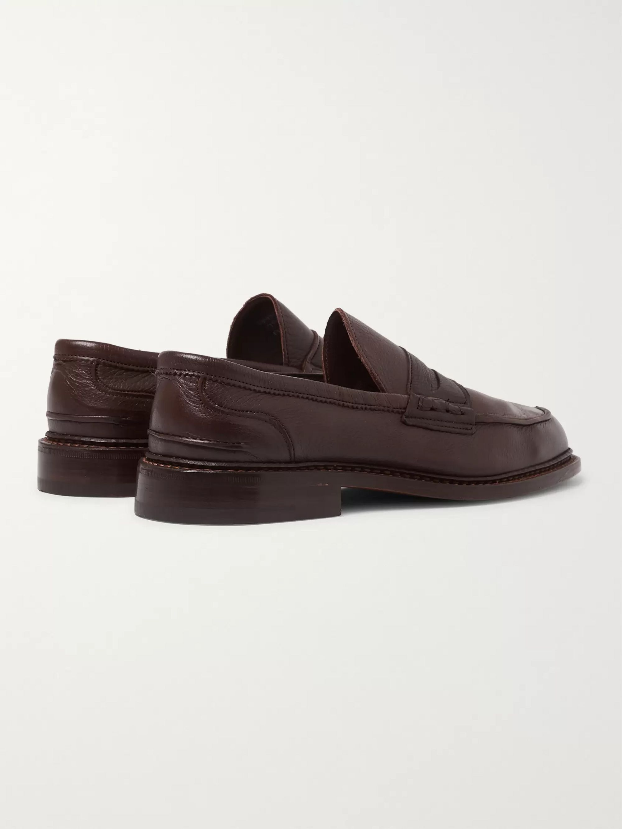 Tricker's Adam Pebble-Grain Leather Penny Loafers