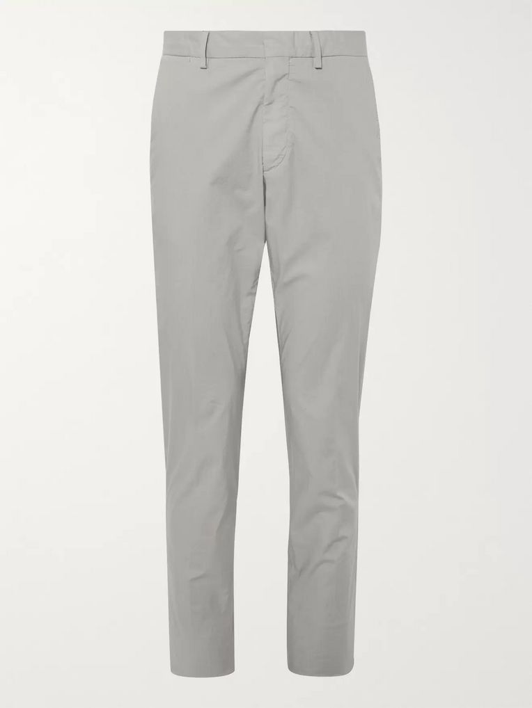 Ermenegildo Zegna Garment-Dyed Stretch-Cotton Gabardine Drawstring Trousers