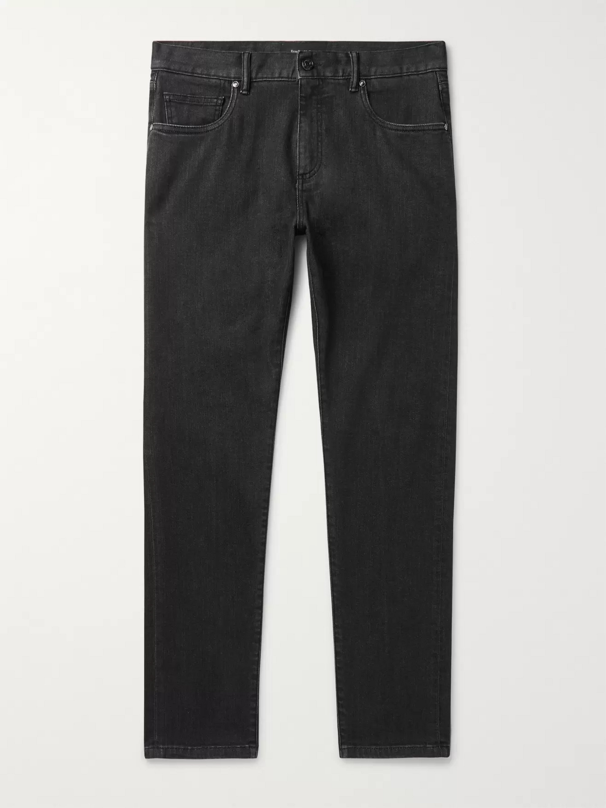 Ermenegildo Zegna Slim-Fit Stretch-Denim Jeans