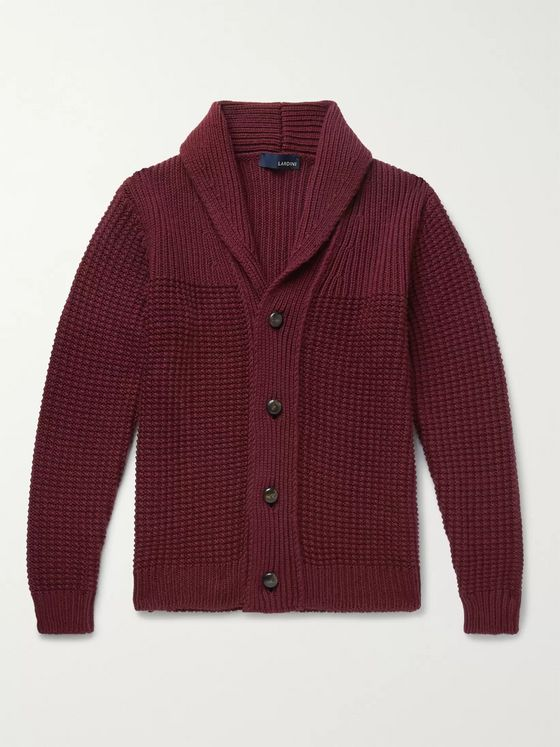 Lardini Shawl-Collar Wool Cardigan