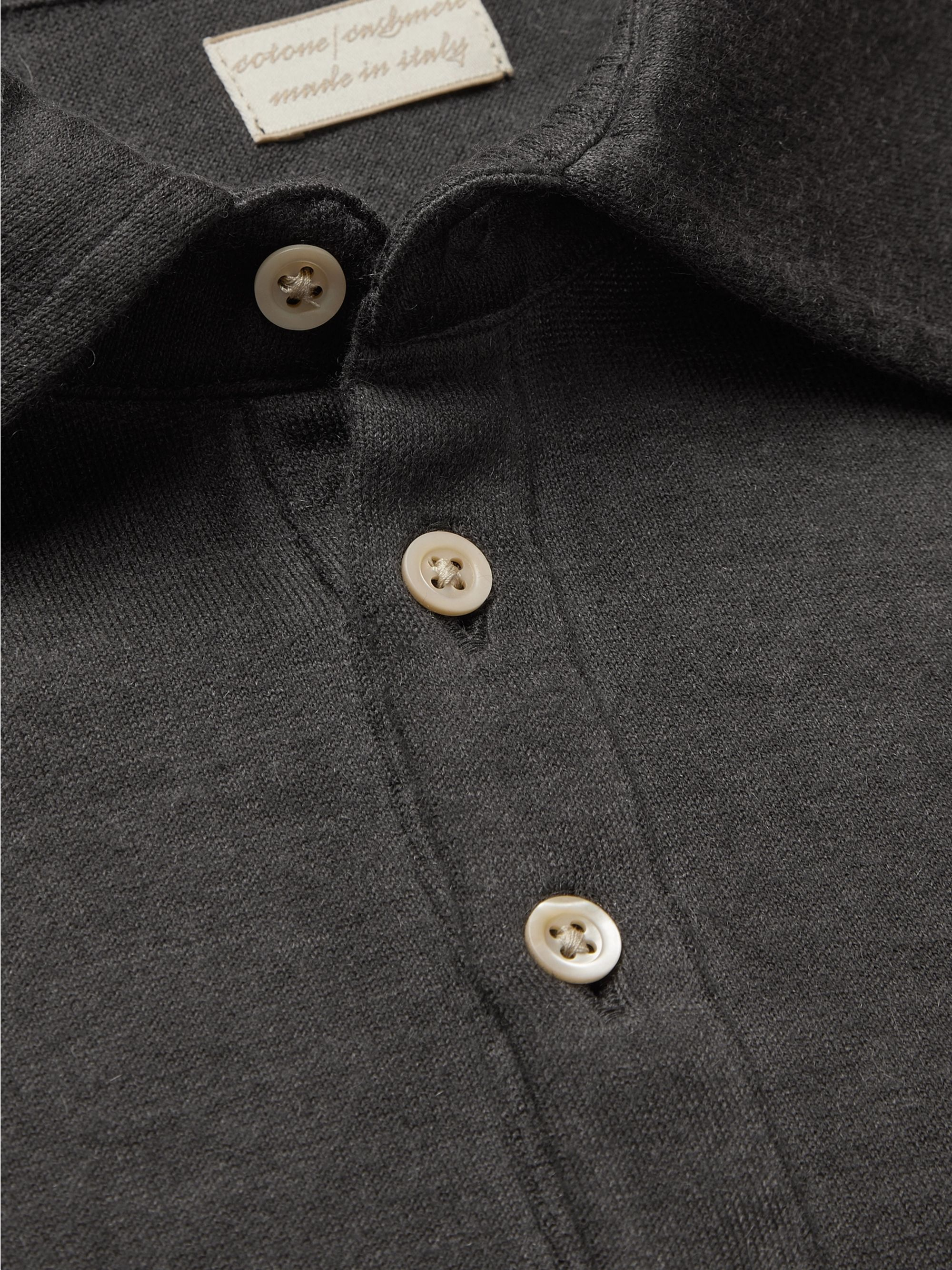 Massimo Alba Watercolour-Dyed Cotton and Cashmere-Blend Polo Shirt