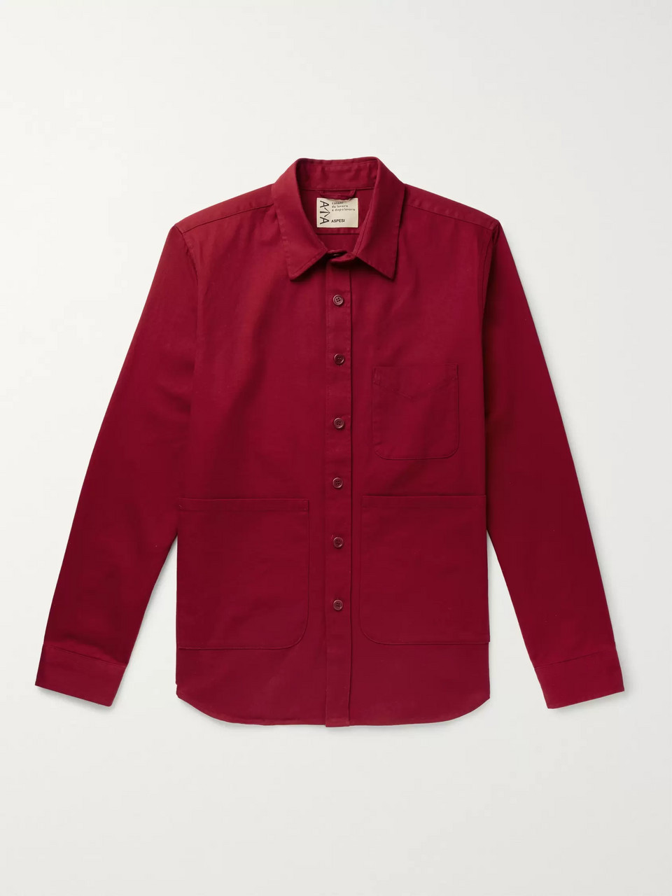 Aspesi Garment-Dyed Cotton-Twill Overshirt