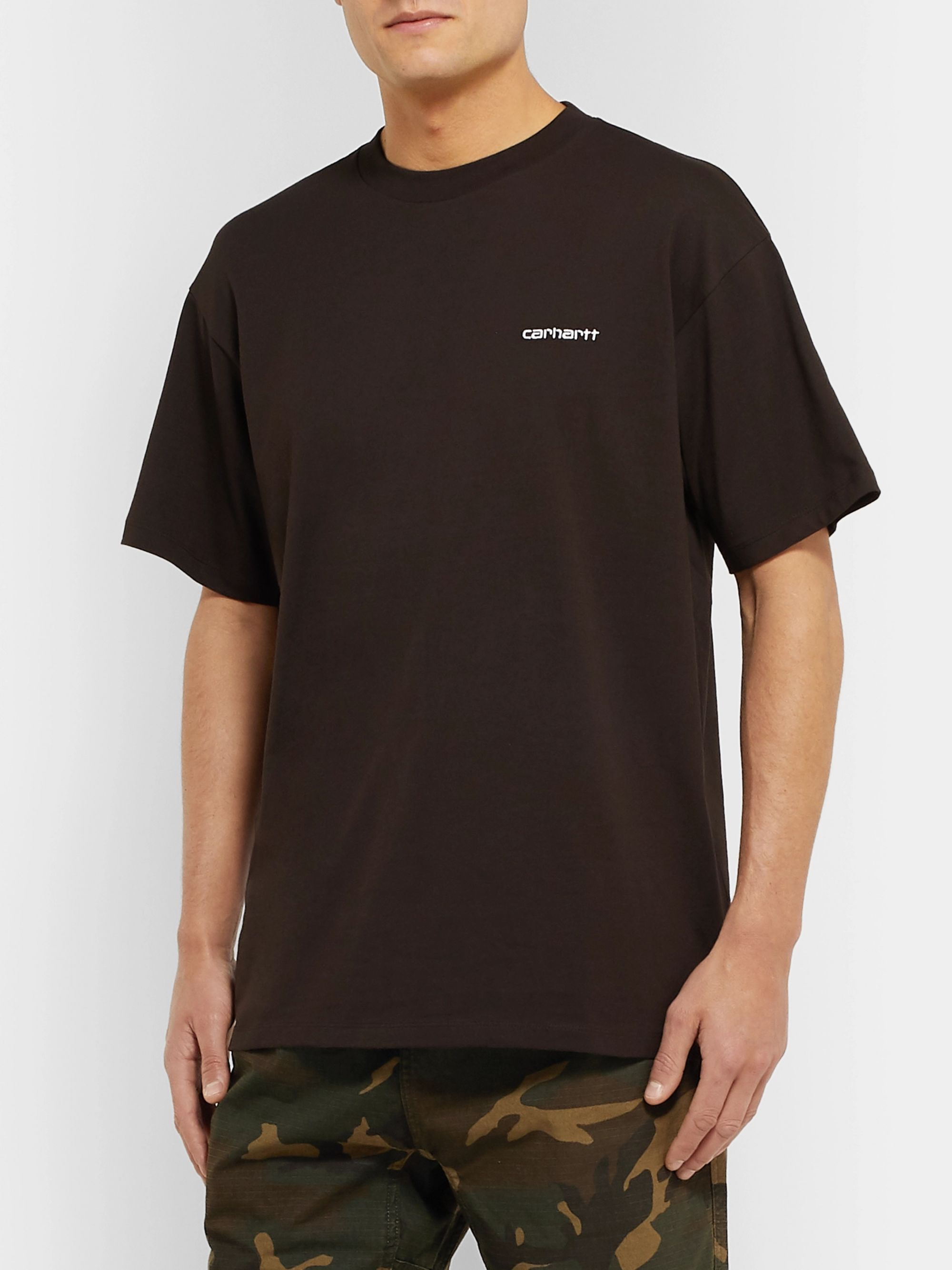 Carhartt WIP Script Logo-Embroidered Cotton-Jersey T-Shirt