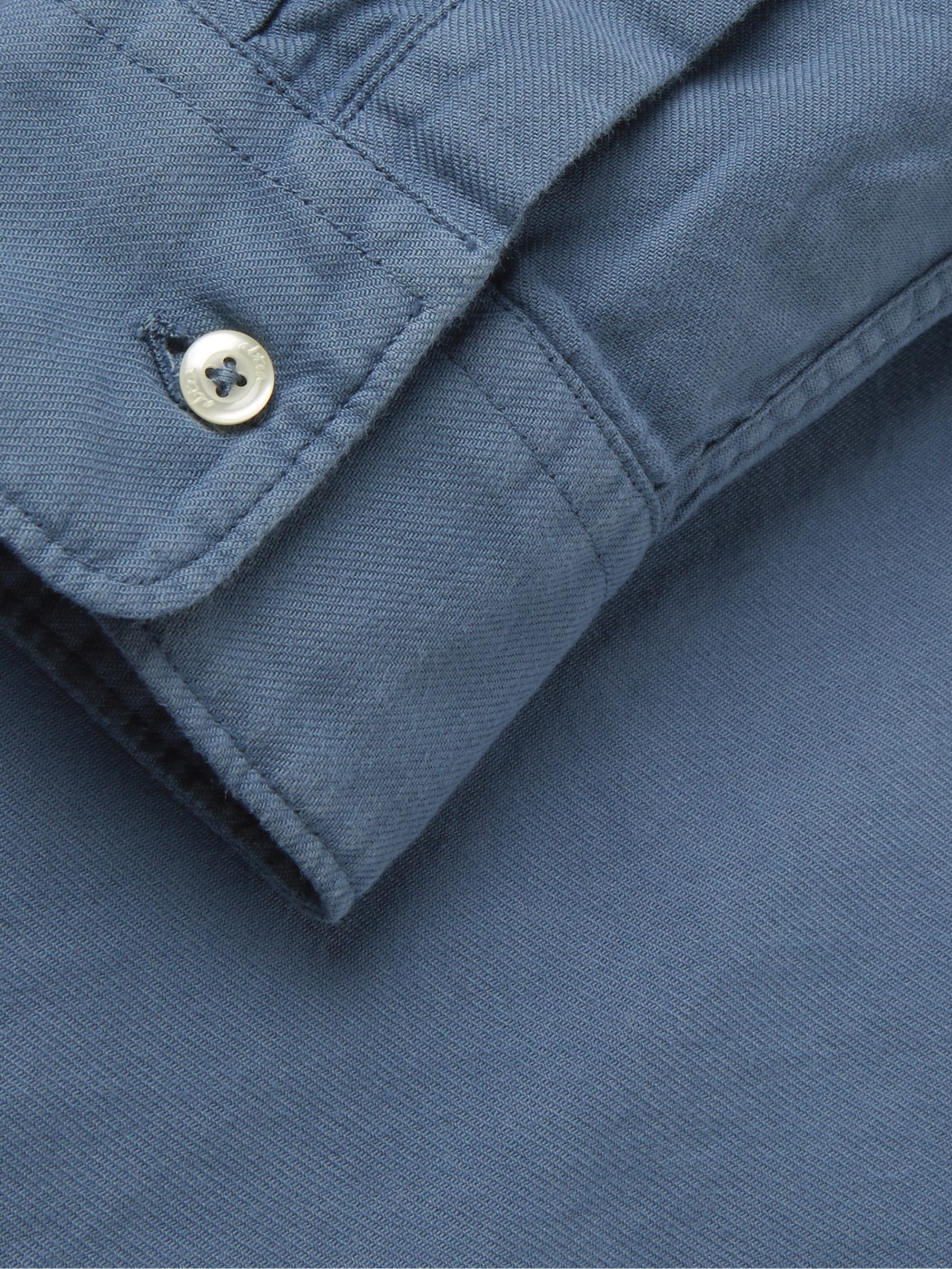 Altea Slim-Fit Brushed Cotton-Twill Shirt