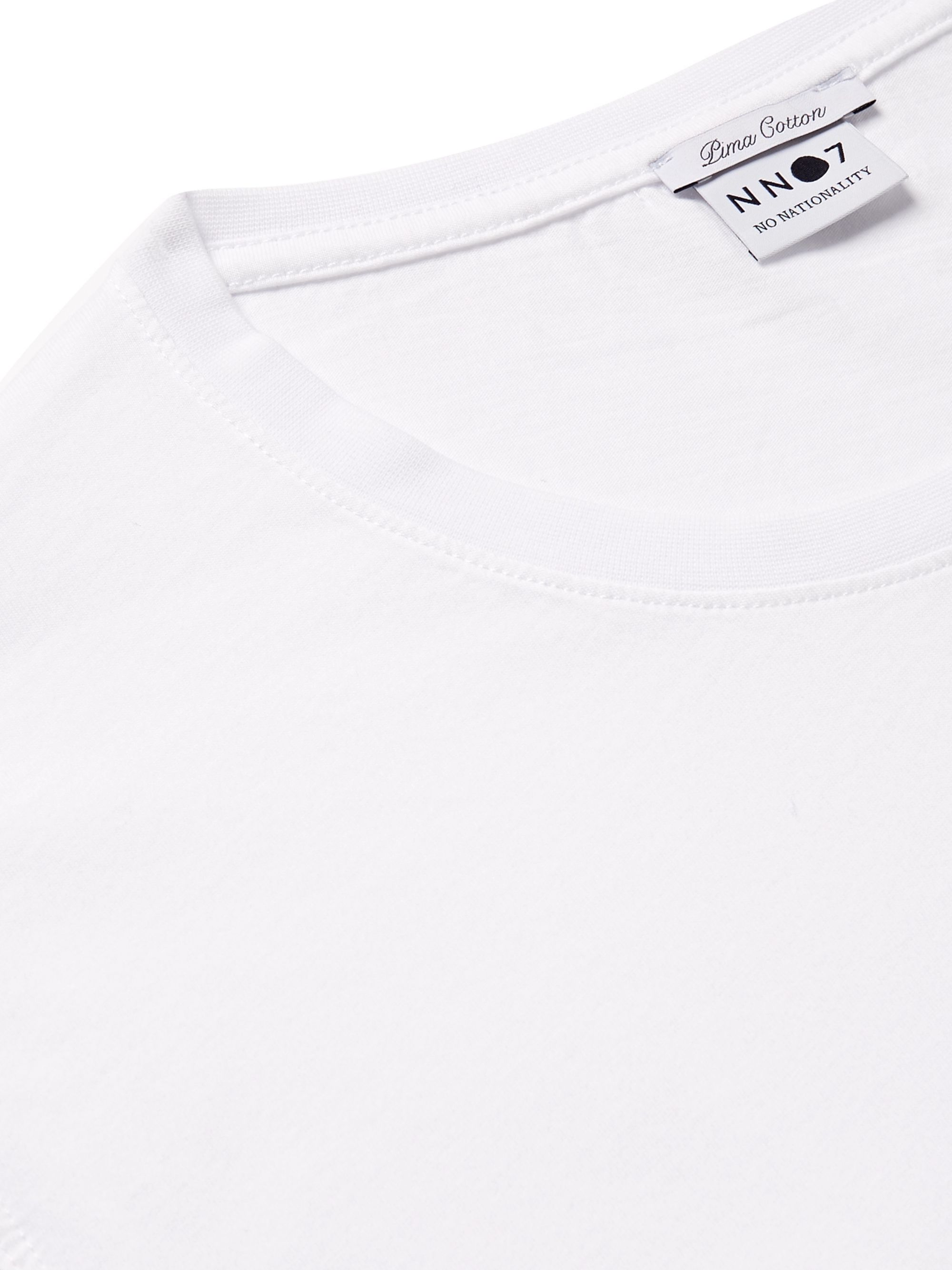 White Two-pack Pima Cotton-jersey T-shirts   Nn07
