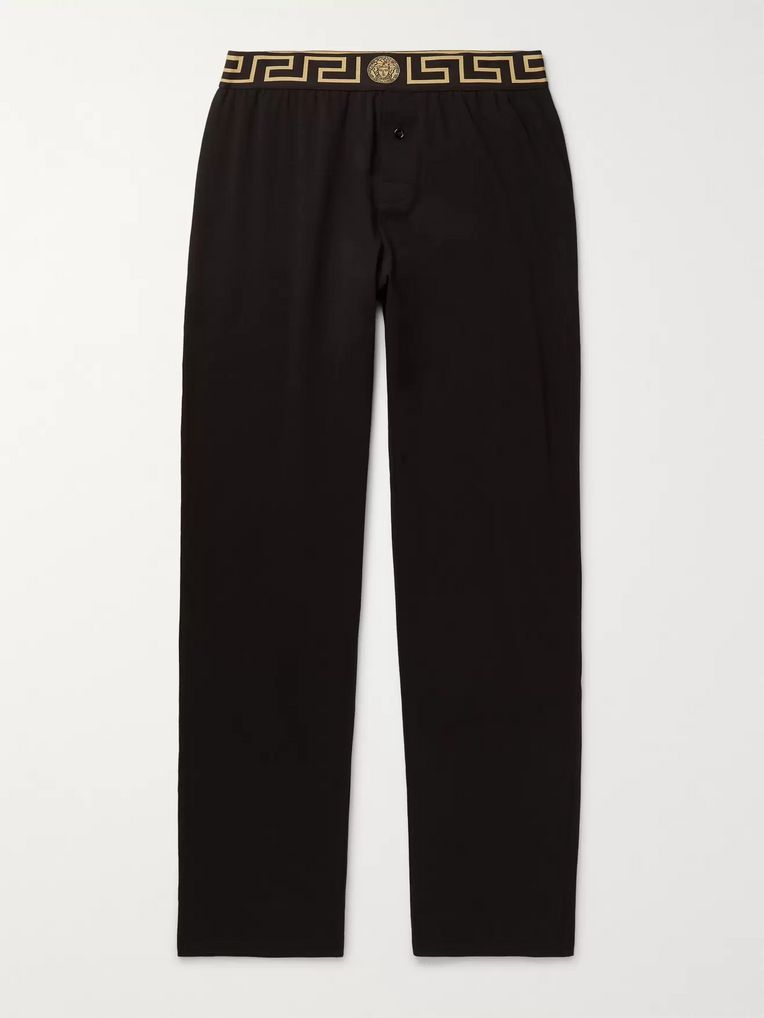 Versace Stretch Cotton-Blend Pyjama Trousers