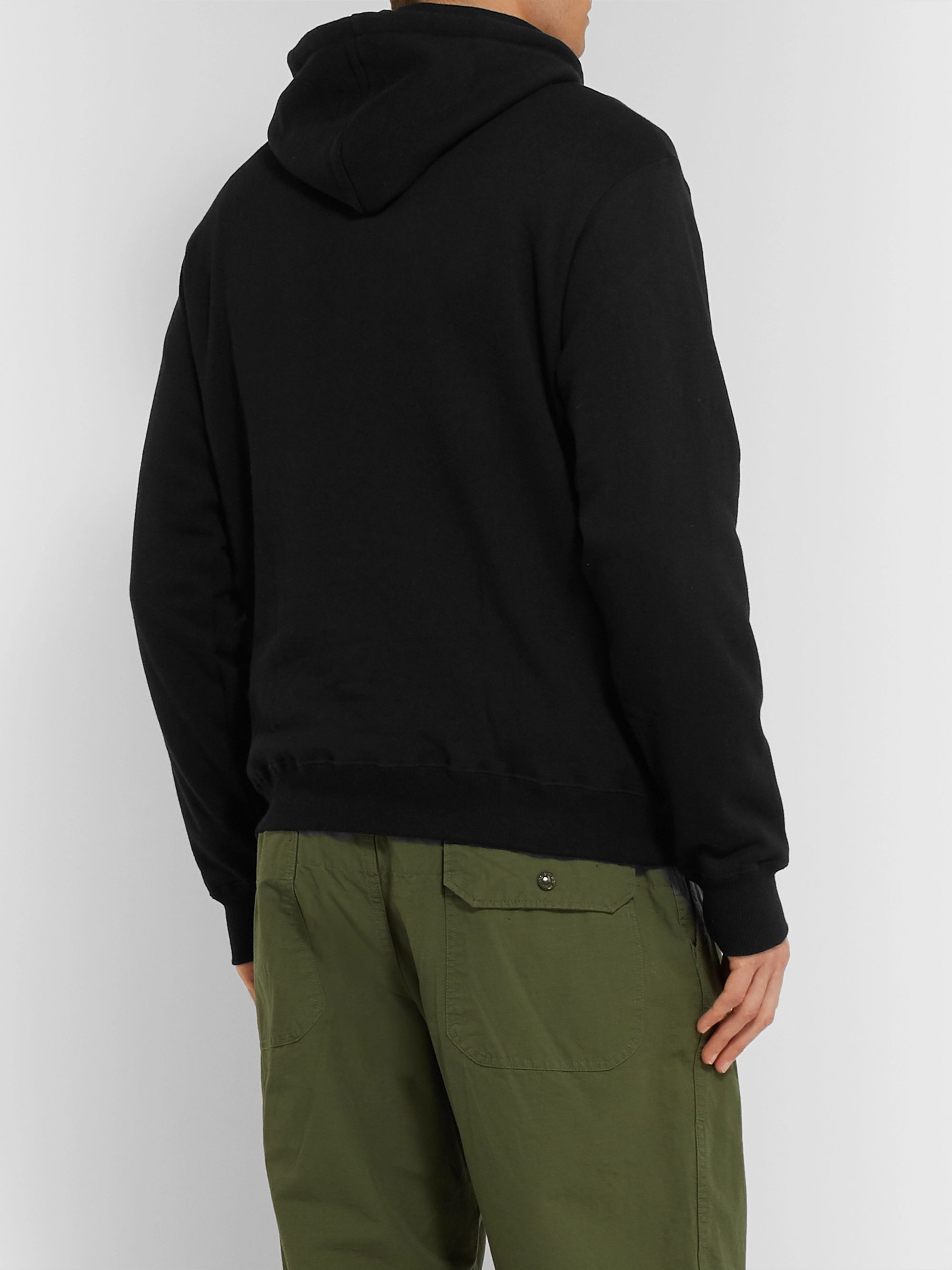 Aloye Slim-Fit Two-Tone Loopback Cotton-Jersey Hoodie