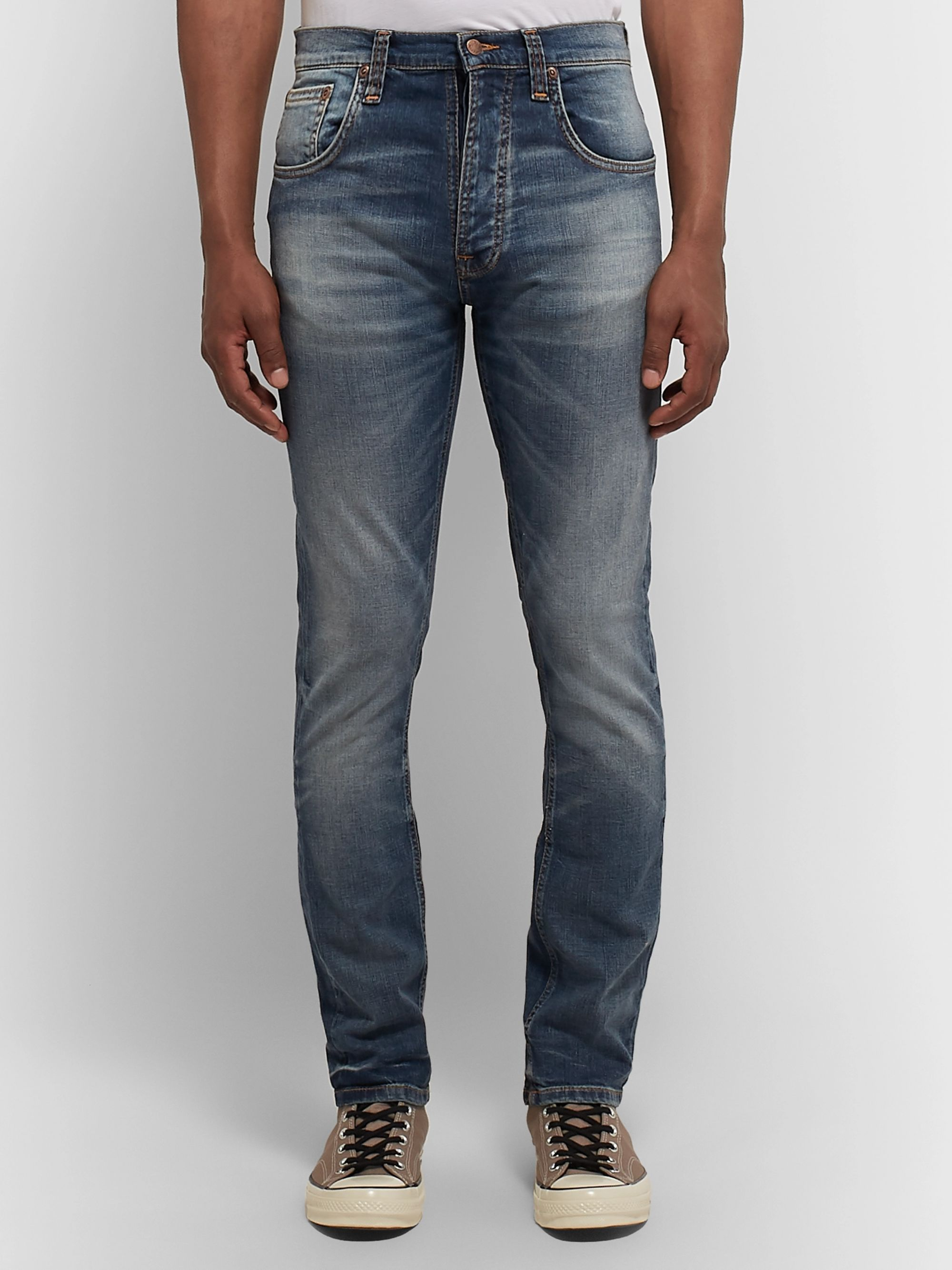 Nudie Jeans Grim Tim Slim-Fit Organic Stretch-Denim Jeans