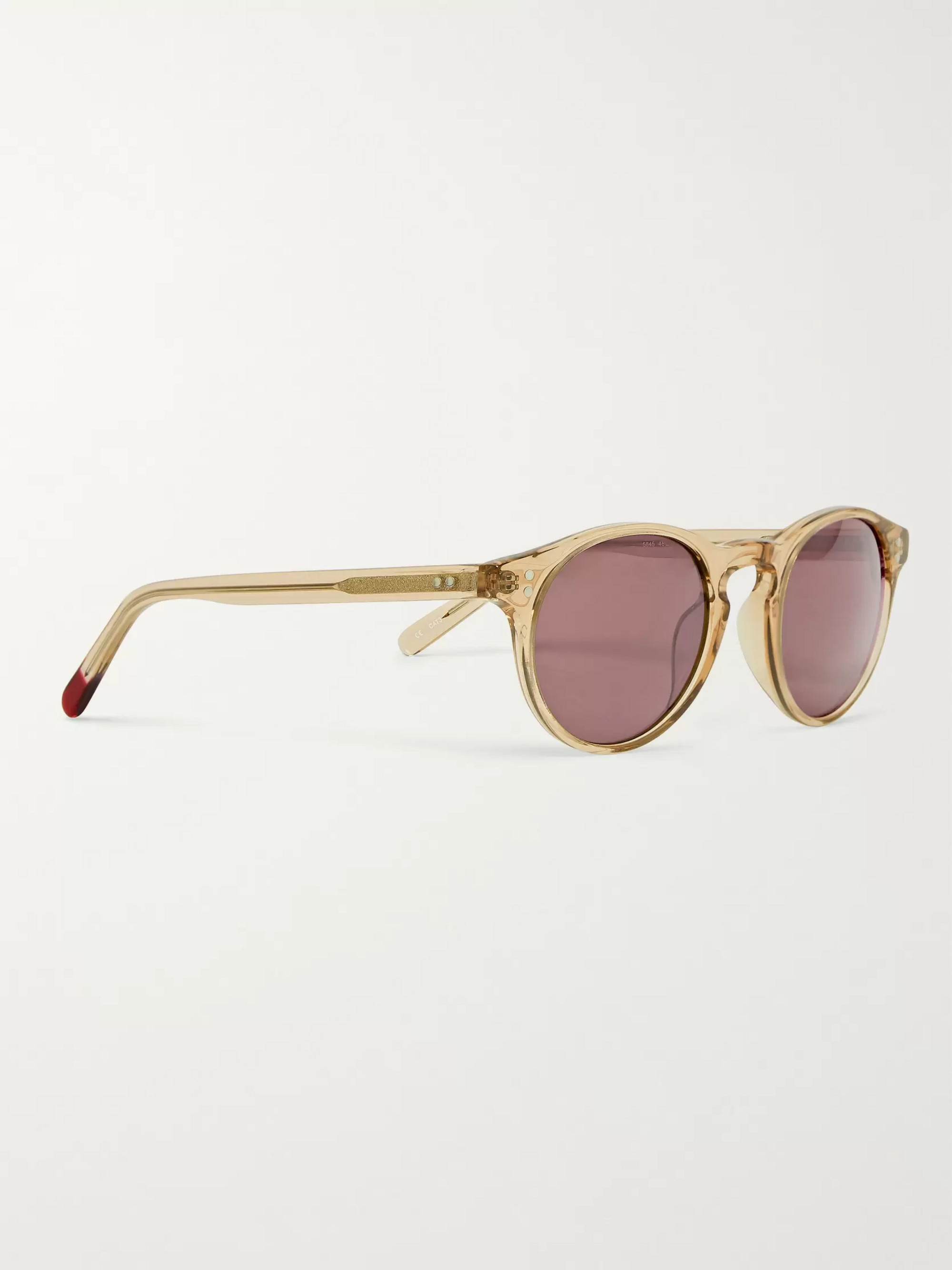 544d46d62268 Yellow Sid Round-Frame Acetate Sunglasses | Oliver Spencer | MR PORTER