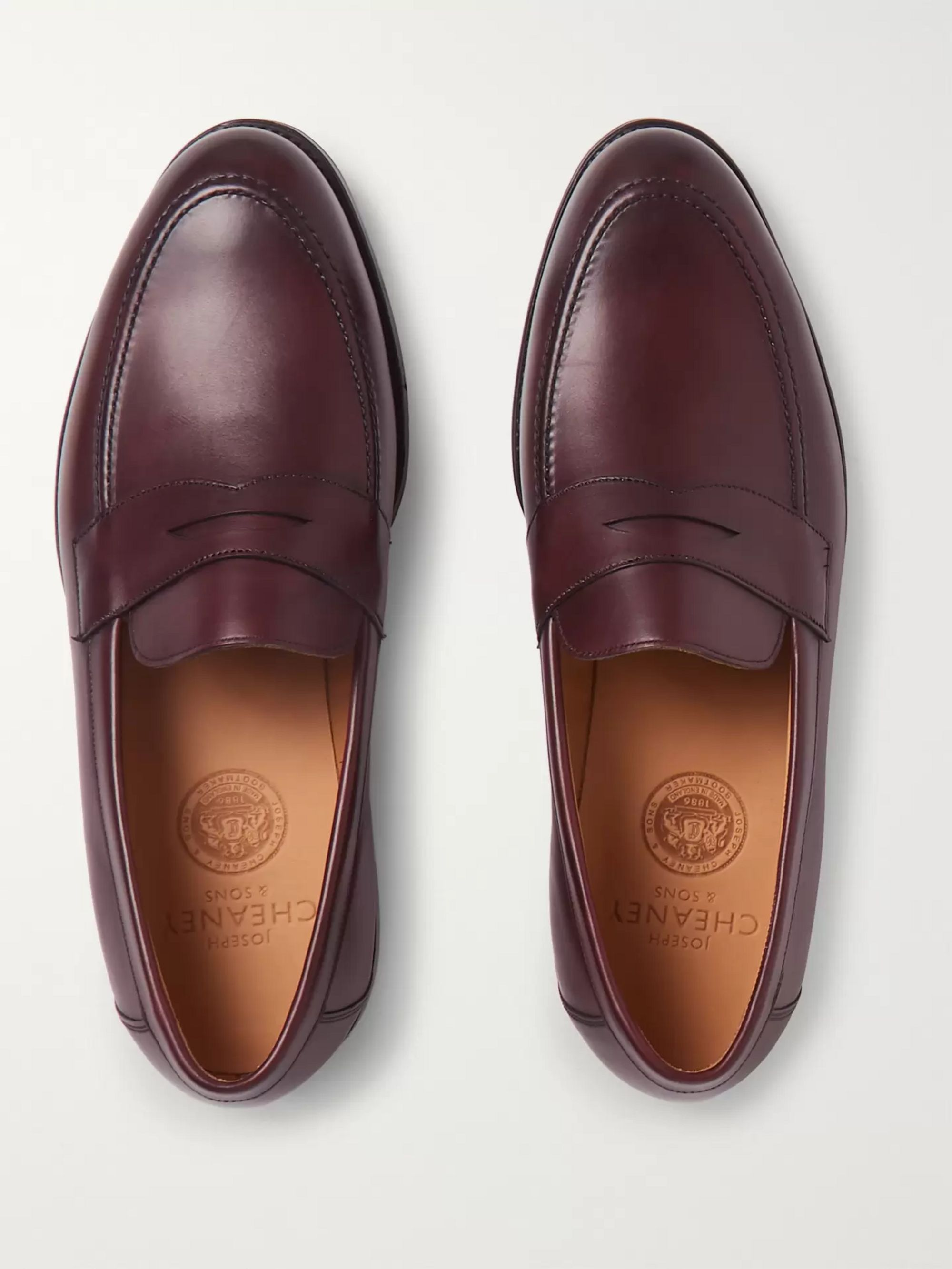 Cheaney Hadley Burnished-Leather Penny Loafers