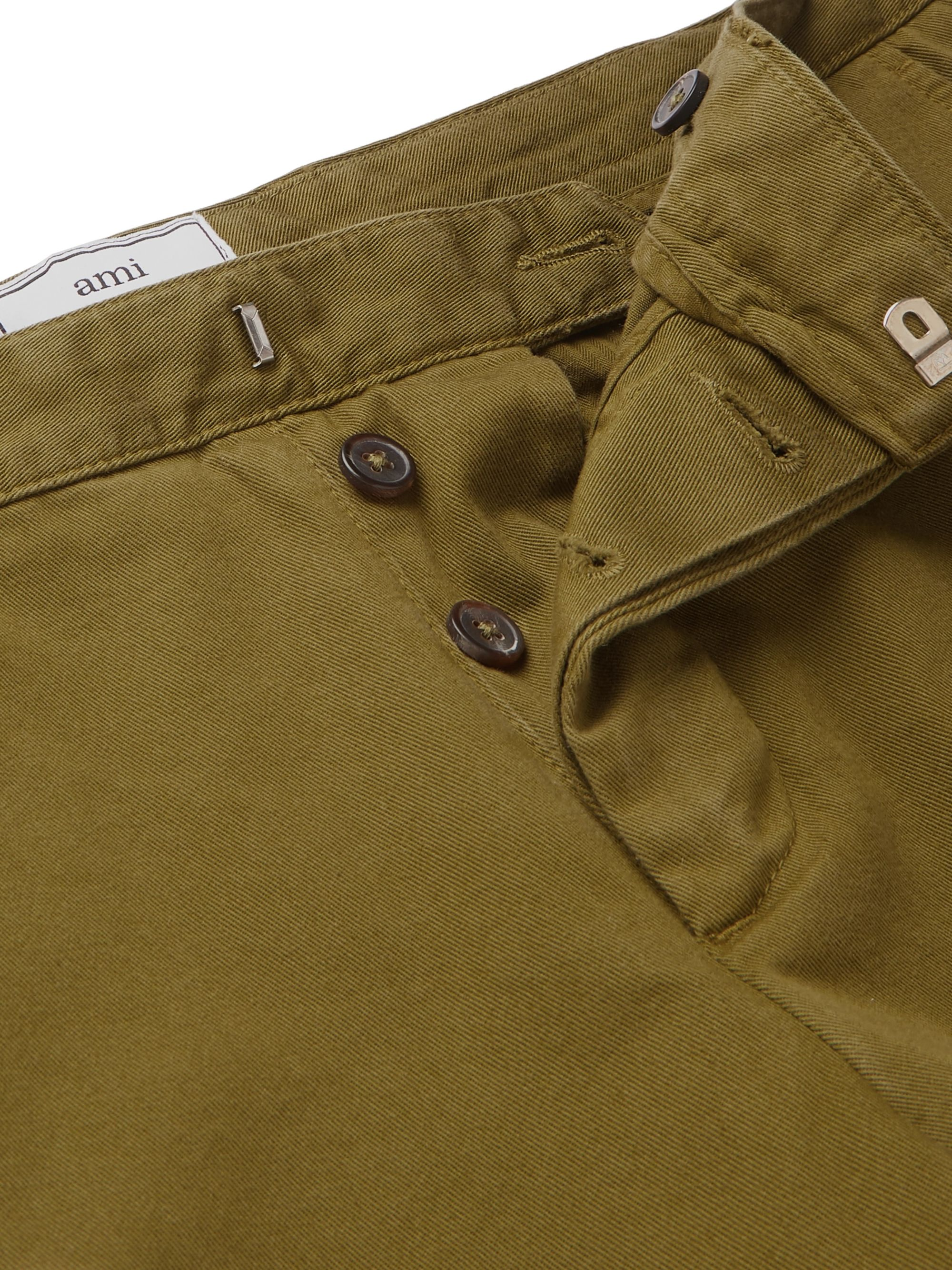 AMI Slim-Fit Cotton-Twill Chinos