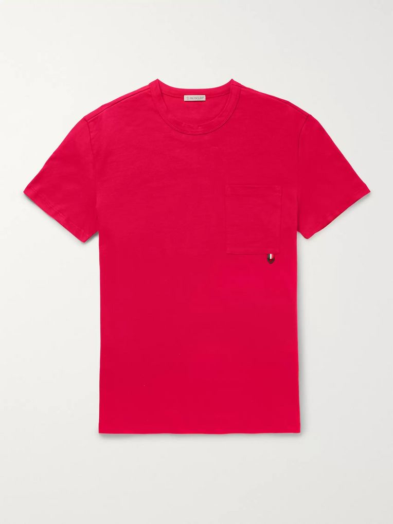 Moncler Logo-Trimmed Cotton-Jersey T-Shirt