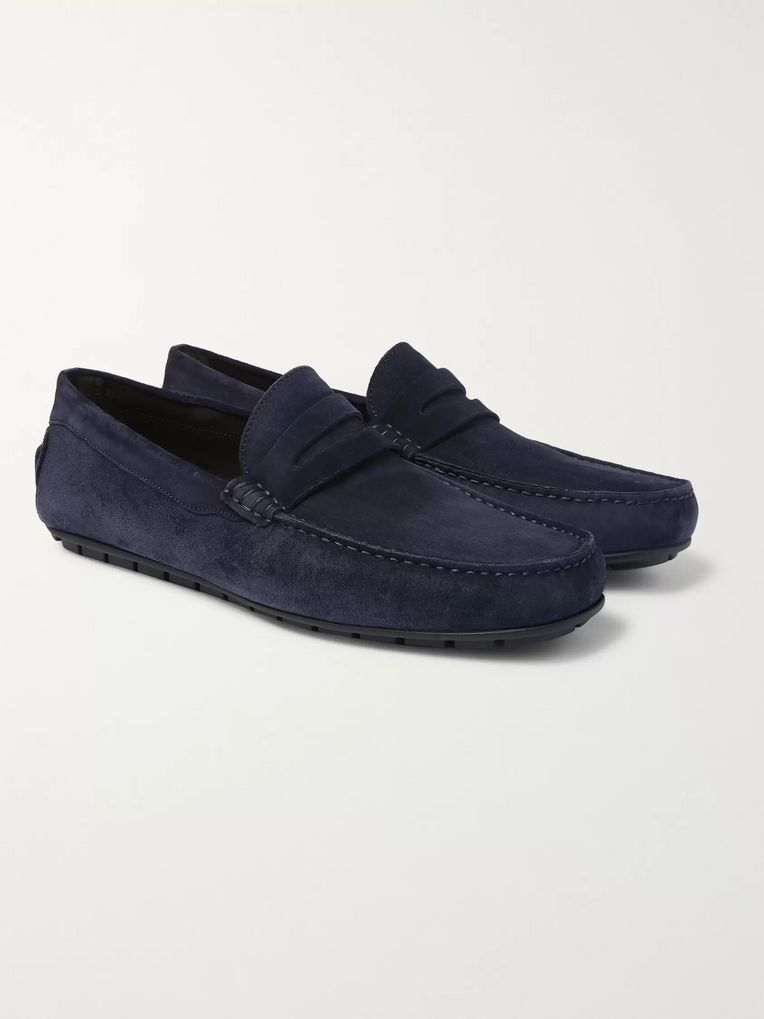 Canali Suede Driving Shoes