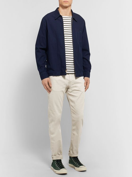 PS Paul Smith Tapered Garment-Dyed Denim Jeans