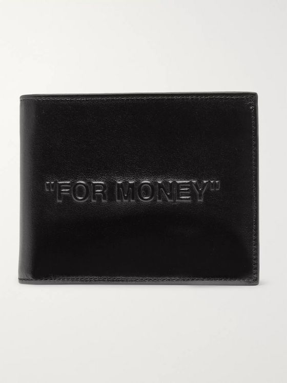 Off-White Embossed Leather Billfold Wallet
