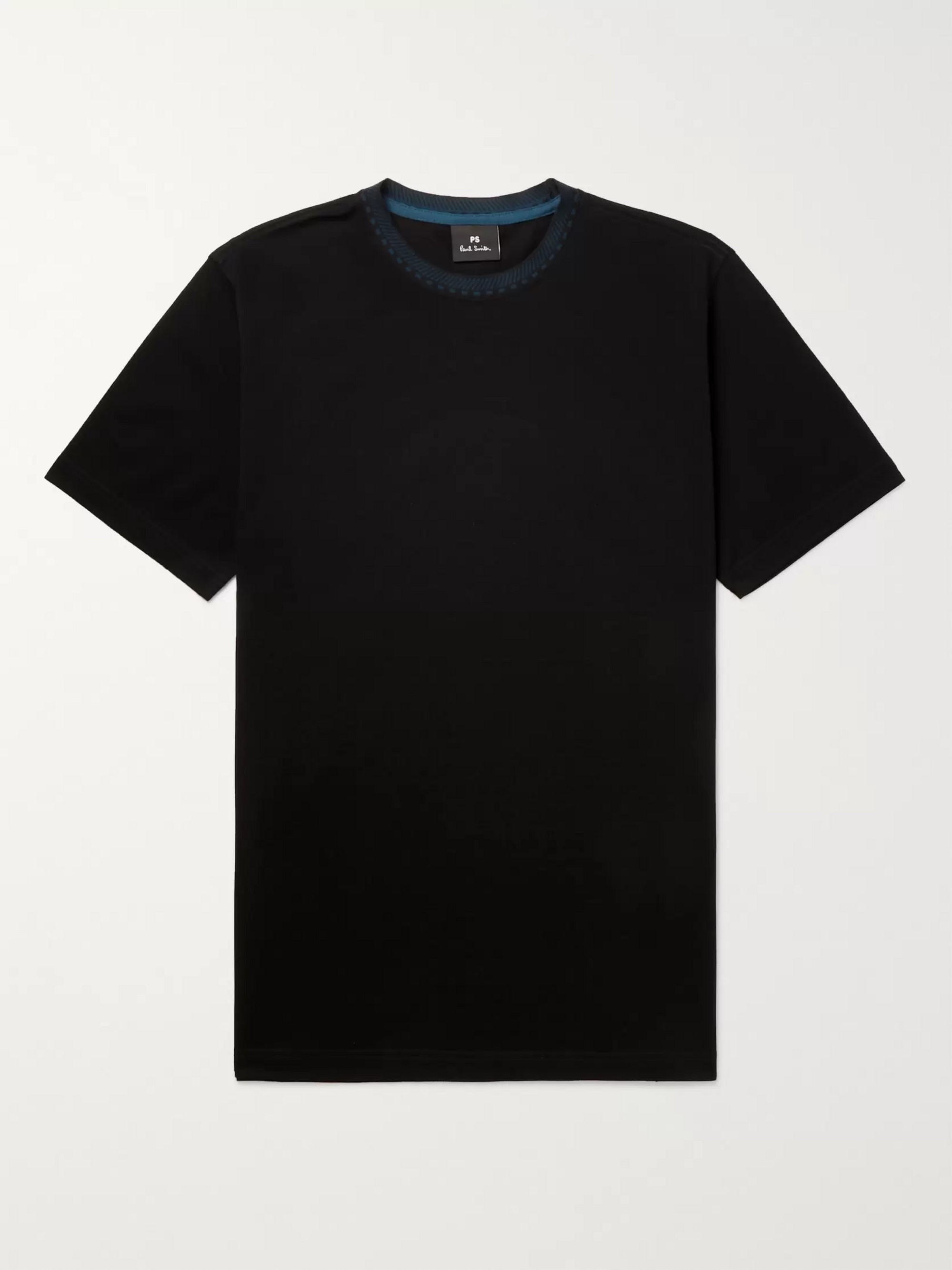 PS Paul Smith Contrast-Trimmed Cotton-Piqué T-Shirt