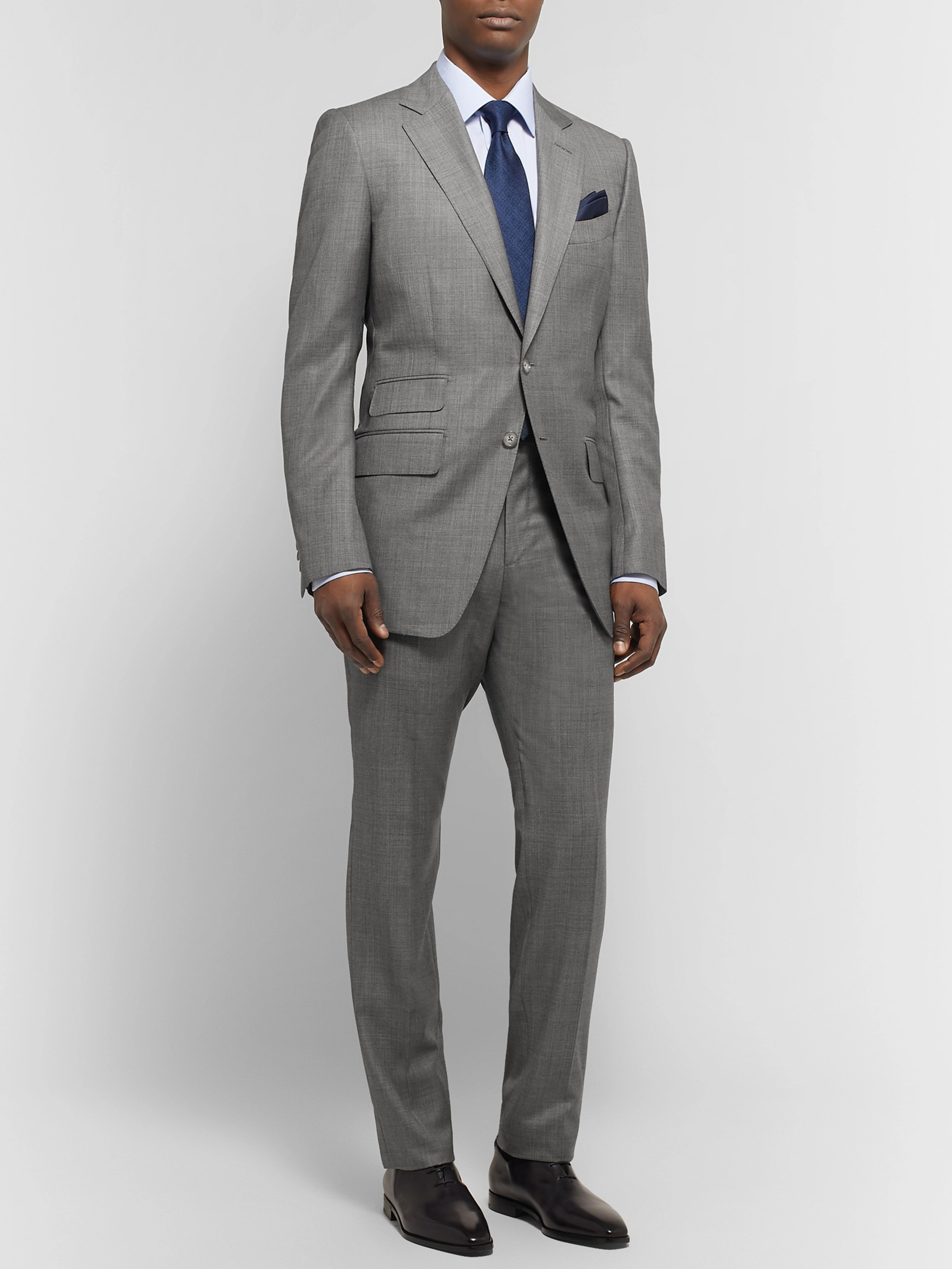 59d1a72ca2b64 TOM FORD Grey O'Connor Slim-Fit Super 110s Wool-Sharkskin Suit Jacket