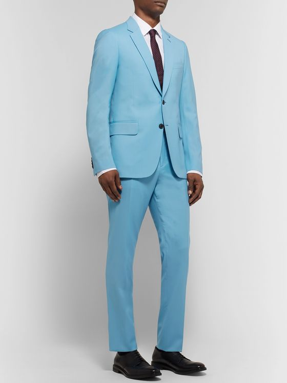 Paul Smith Light-Blue A Suit To Travel In Slim-Fit Wool Suit Trousers