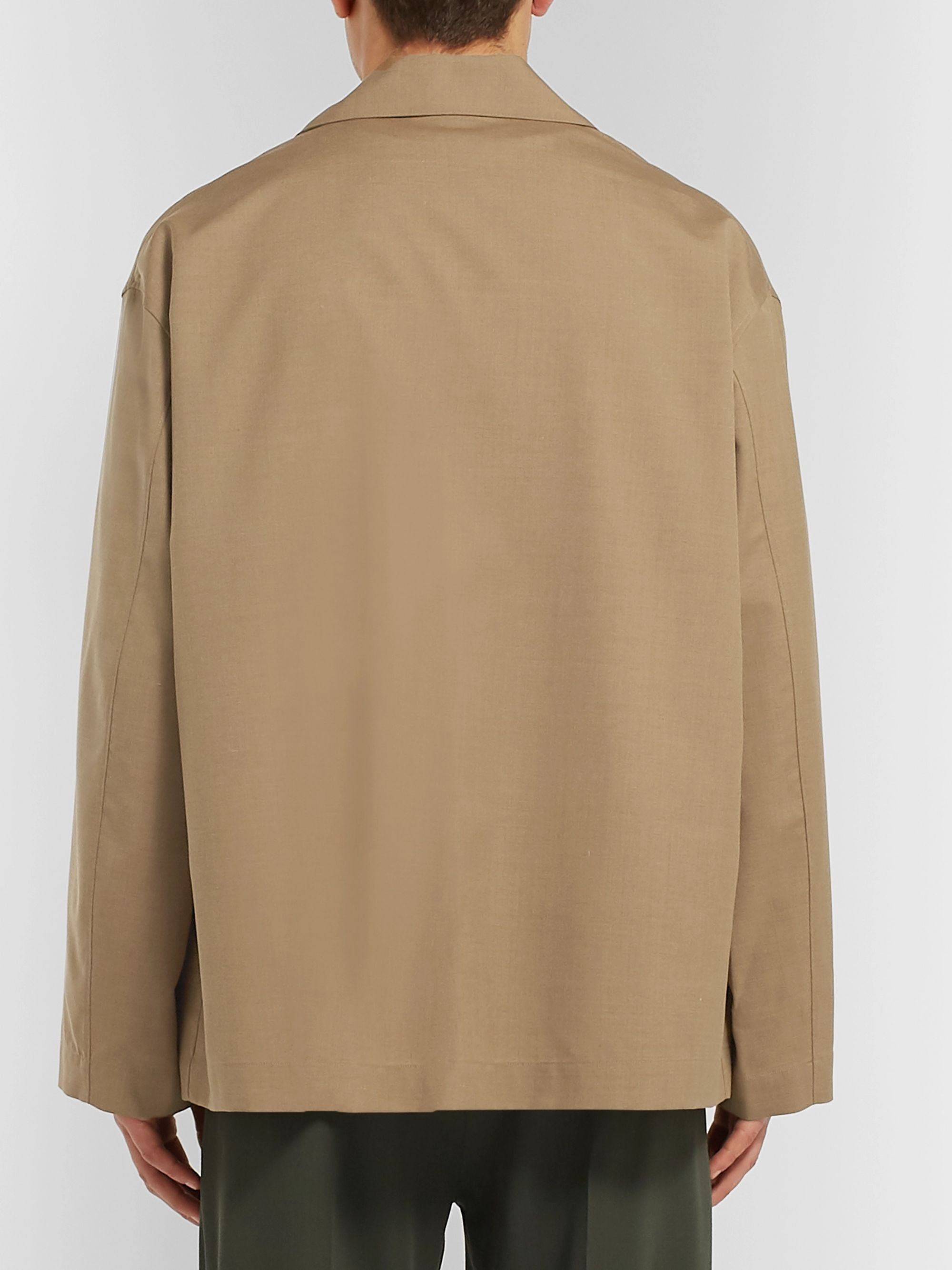 Auralee Wool and Silk-Blend Overshirt