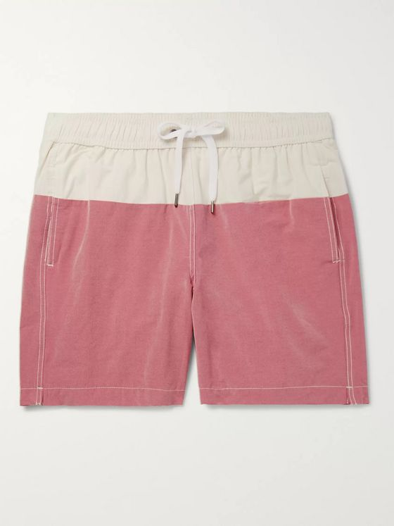 Onia Charles Mid-Length Colour-Block Cotton-Blend Swim Shorts