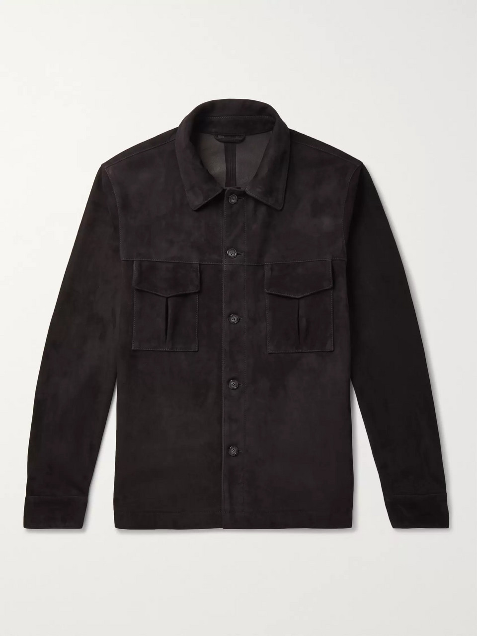 Valstar Slim-Fit Unlined Suede Shirt Jacket
