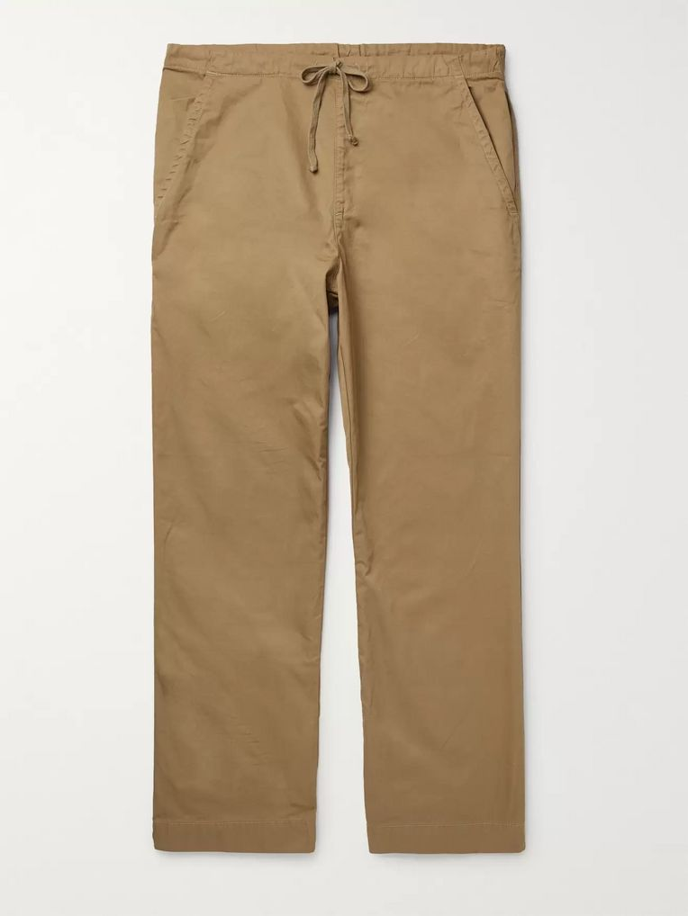 Save Khaki United Easy Cotton-Twill Drawstring Chinos