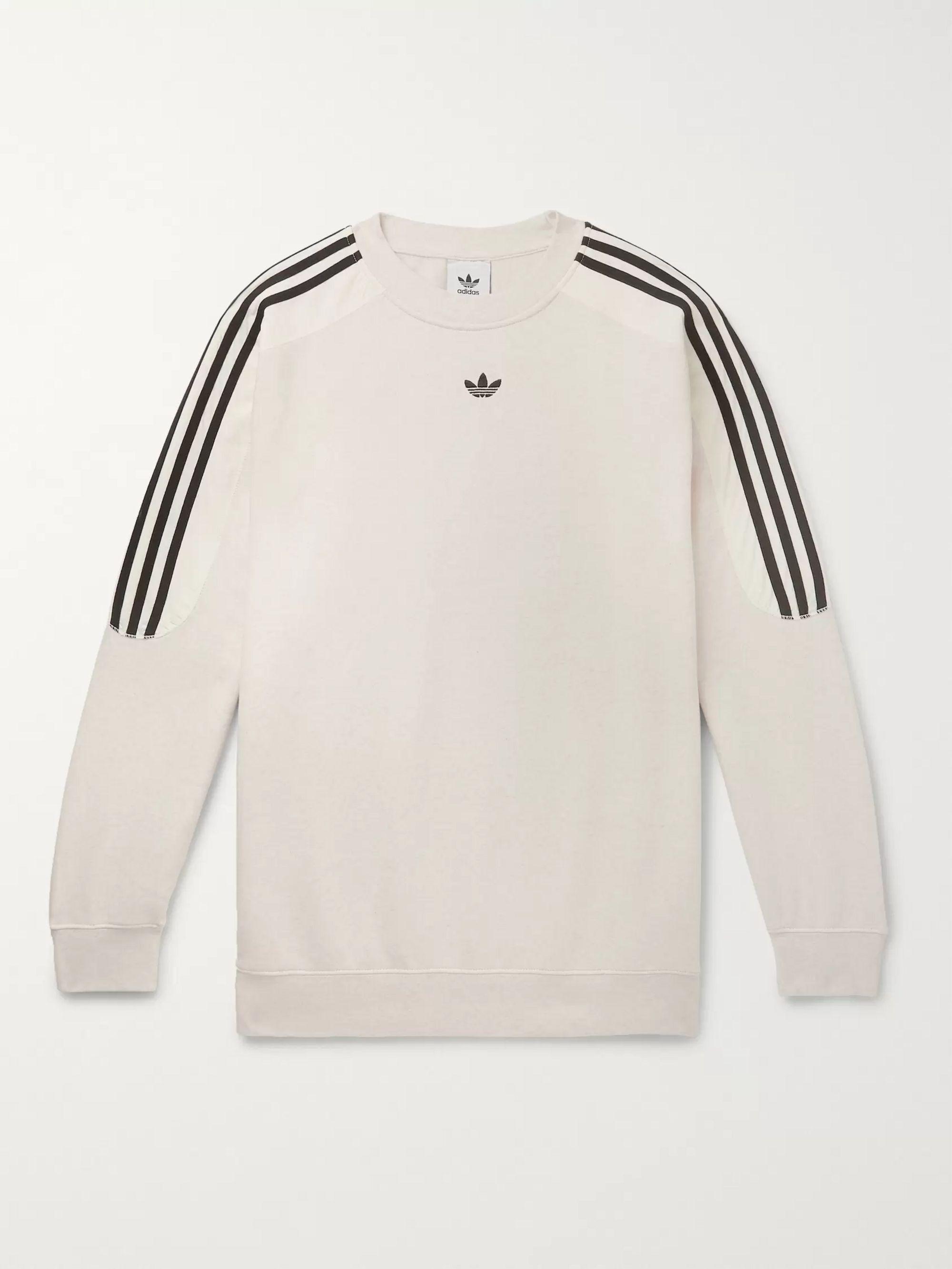 Radkin Mélange Fleece Back Cotton Blend Jersey Sweatshirt