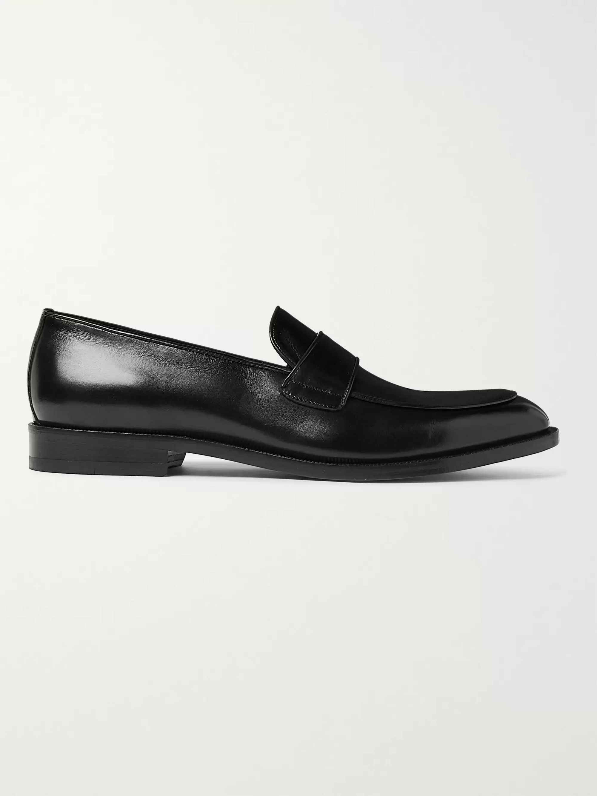 Canali Leather Penny Loafers