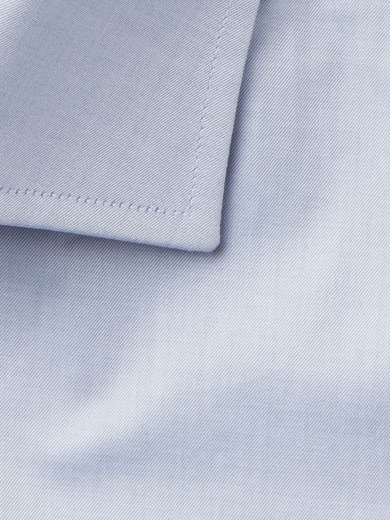 Canali Light-Grey Slim-Fit Cotton Shirt