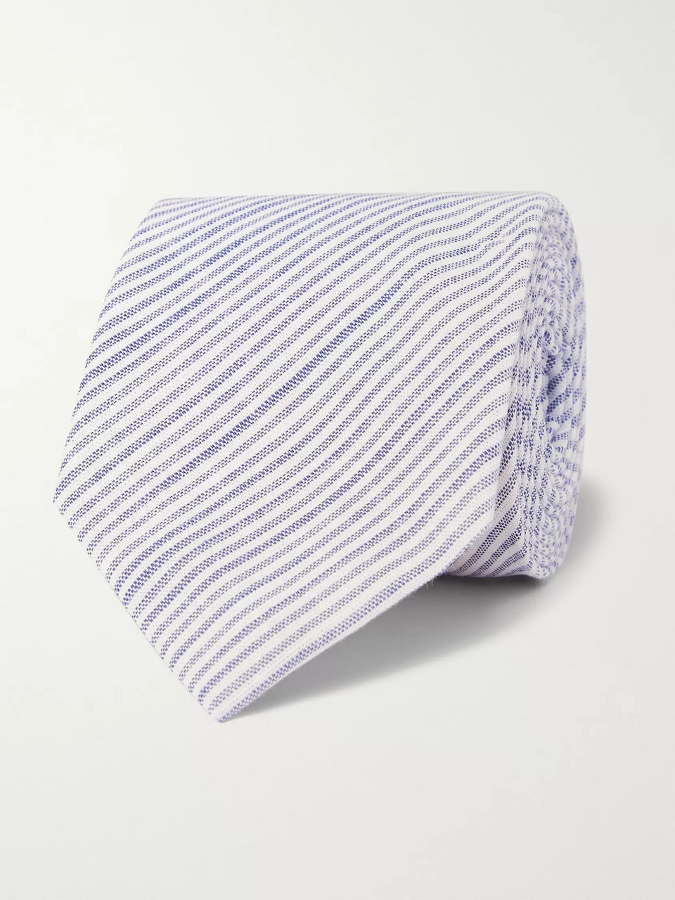 Oliver Spencer 8cm Conroy Striped Mélange Cotton Tie
