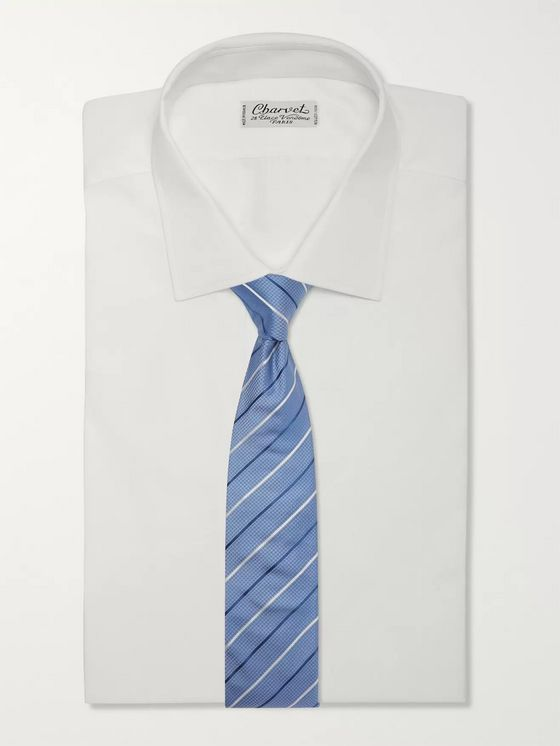 Hugo Boss 7cm Striped Silk-Jacquard Tie
