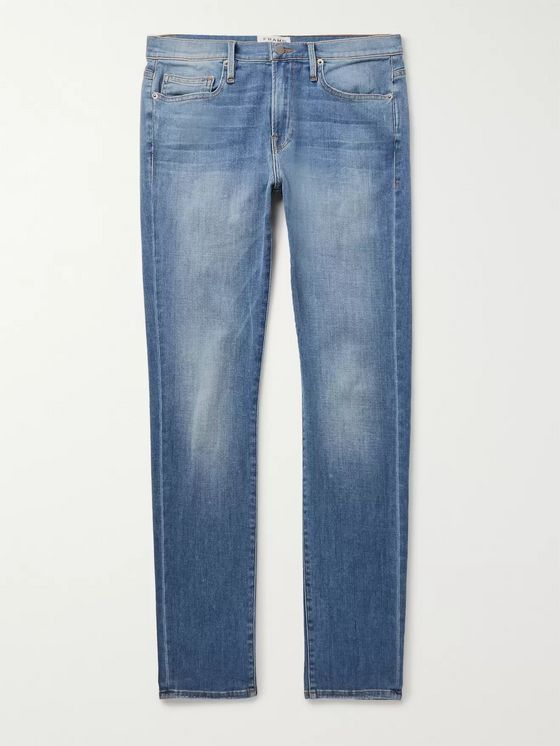 FRAME L'Homme Slim-Fit Stretch-Denim Jeans