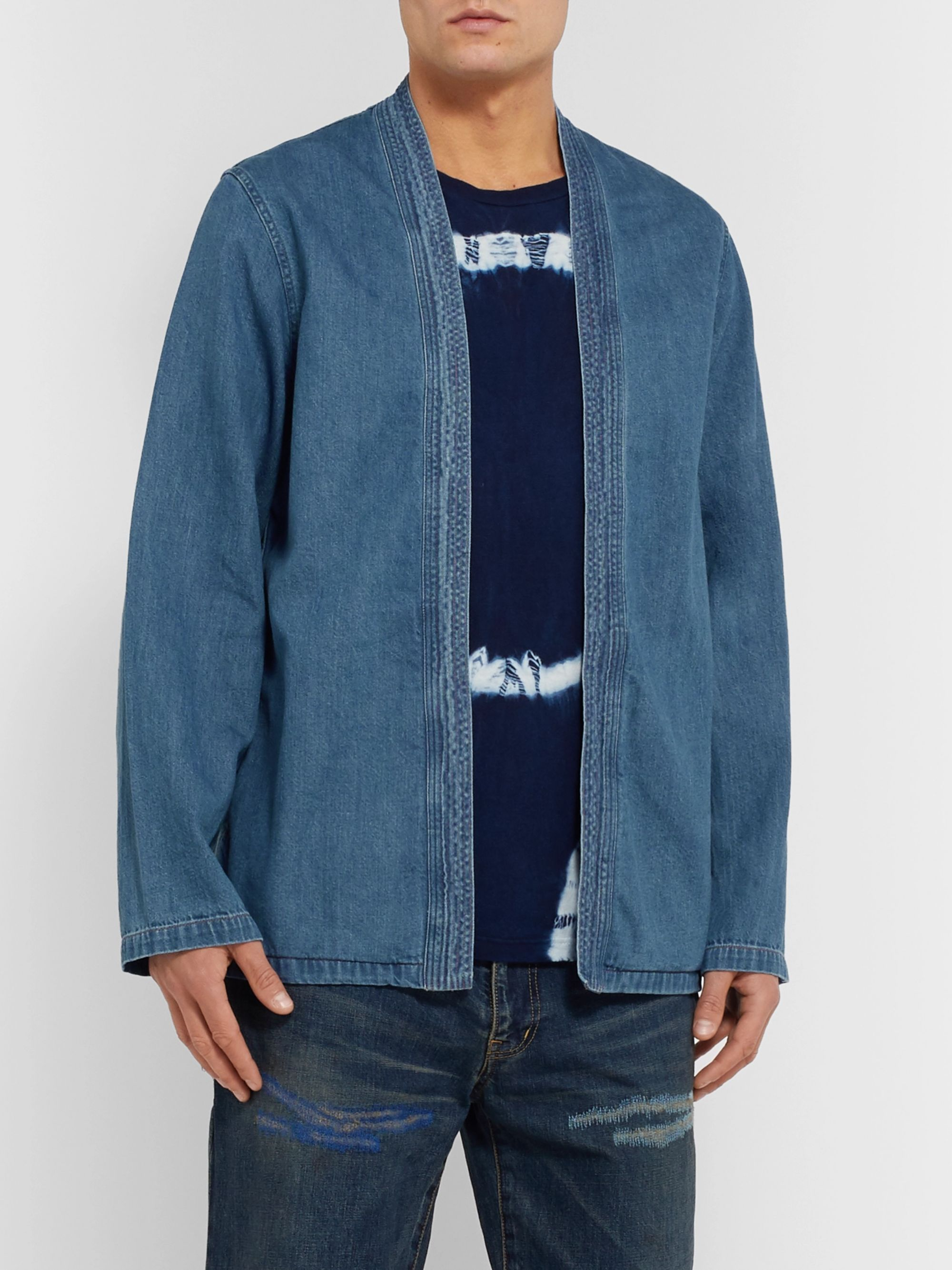 KAPITAL Cotton-Chambray Jacket