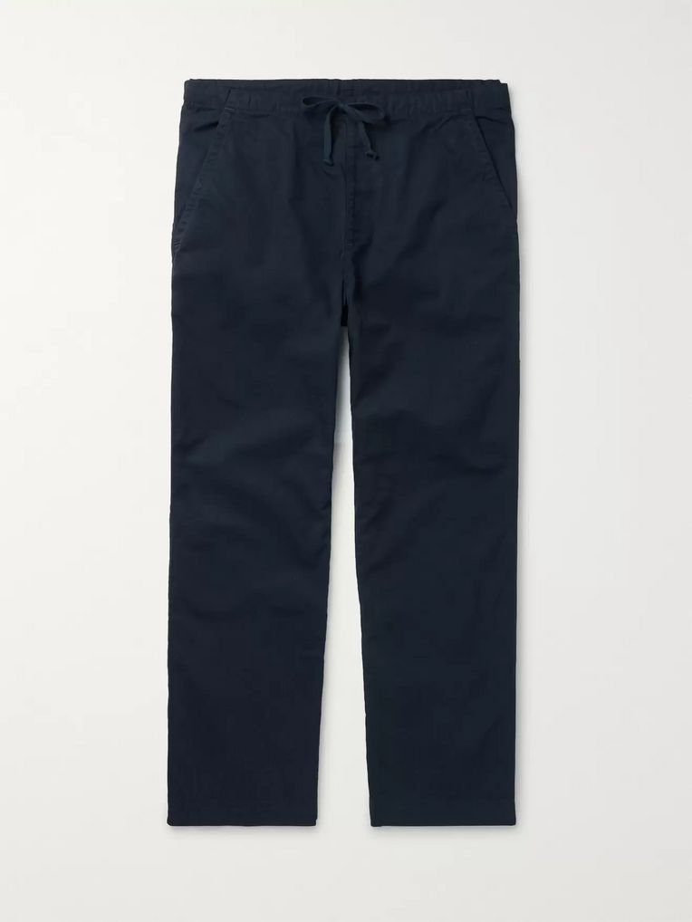 Save Khaki United Navy Easy Cotton-Twill Drawstring Chinos