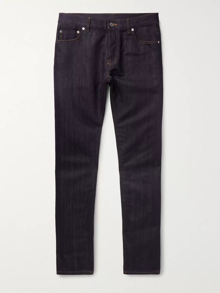 Berluti Slim-Fit Cotton and Mulberry Silk-Blend Denim Jeans