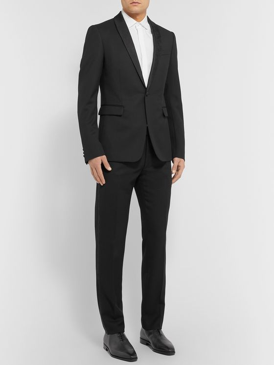 Berluti Black Alessandro Slim-Fit Silk Satin-Trimmed Wool Tuxedo Jacket