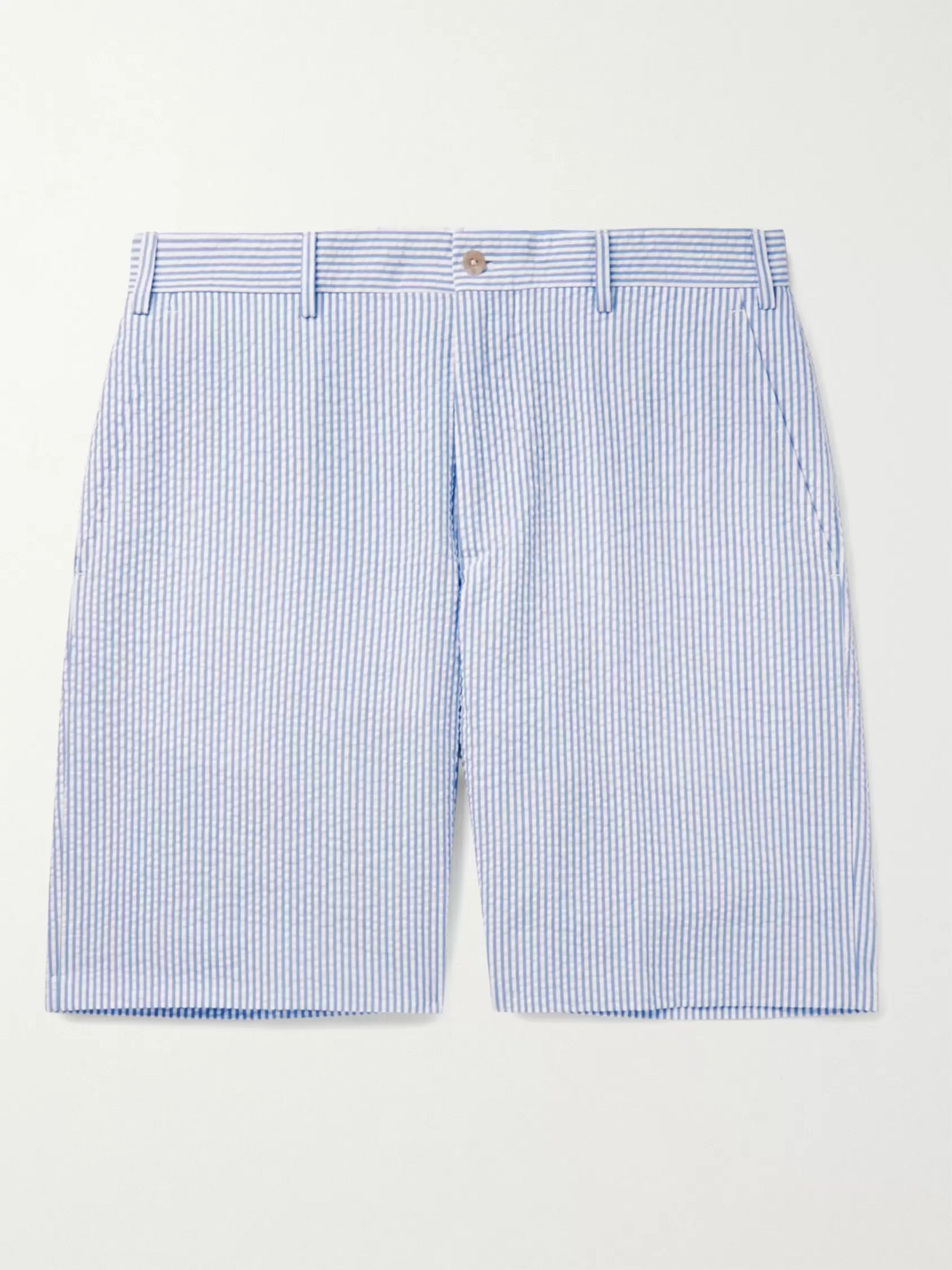 top-rated professional choose newest enjoy cheap price Striped Cotton-Seersucker Shorts