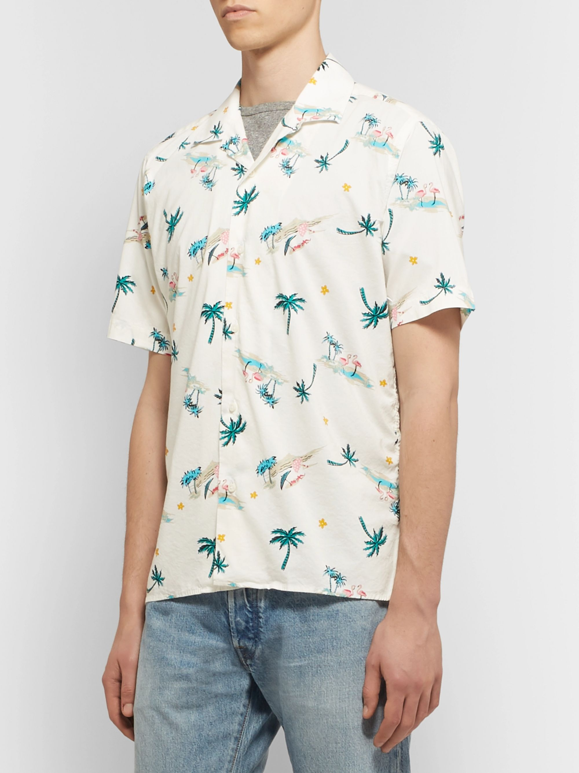 Gitman Vintage Camp-Collar Printed Cotton-Blend Shirt