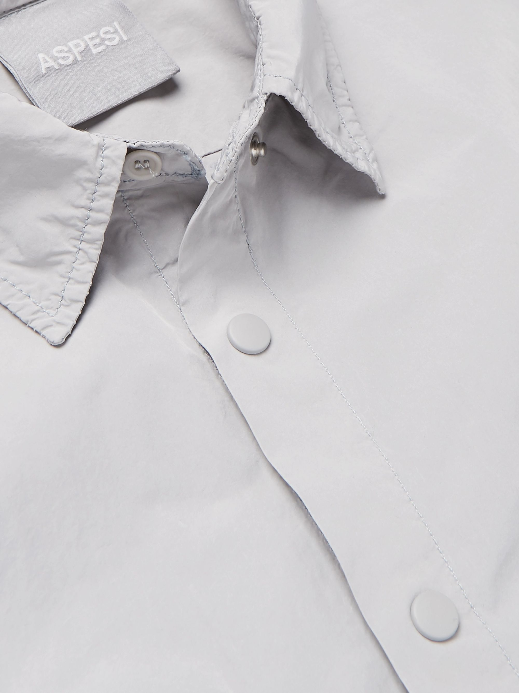 Aspesi Slim-Fit Garment-Dyed Shell Overshirt