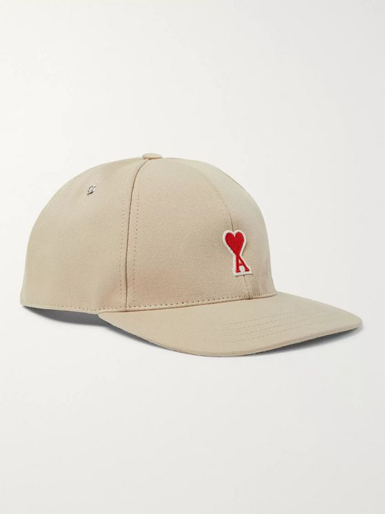 AMI Logo-Appliquéd Cotton-Twill Baseball Cap