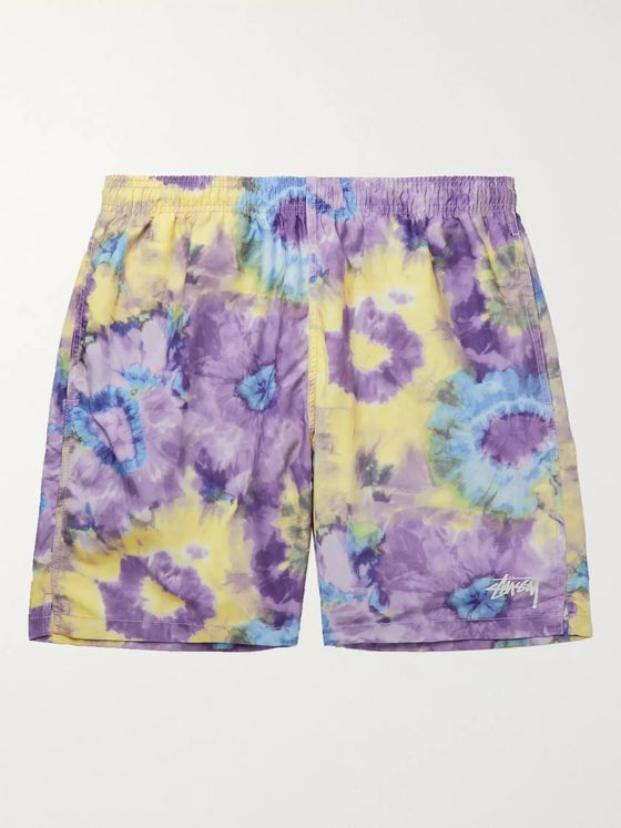 Stüssy Mid-Length Tie-Dyed Swim Shorts