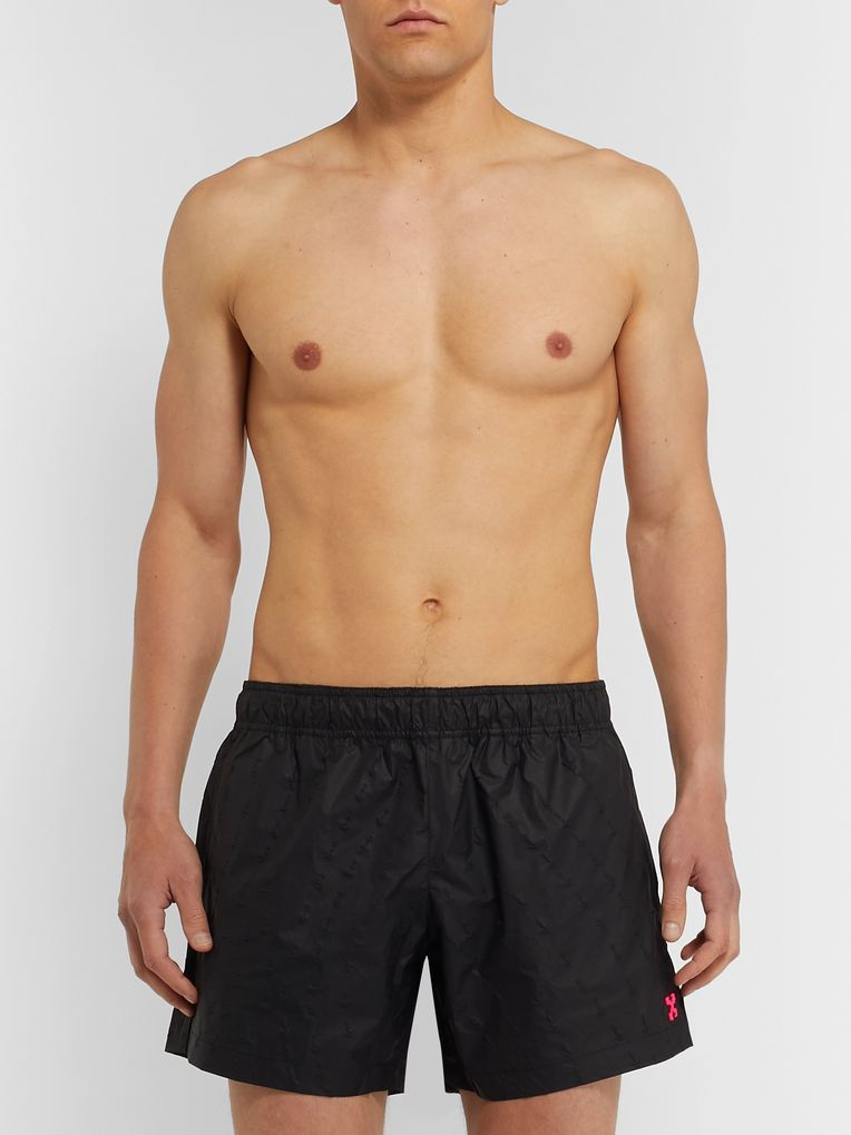 Off-White Logo-Appliquéd Swim Shorts