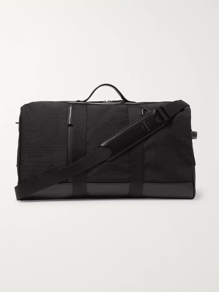 Berluti Eclipse Scritto Leather-Trimmed Nylon Holdall