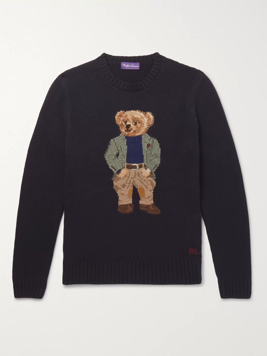 Bear Intarsia Cashmere Sweater by Mr Porter
