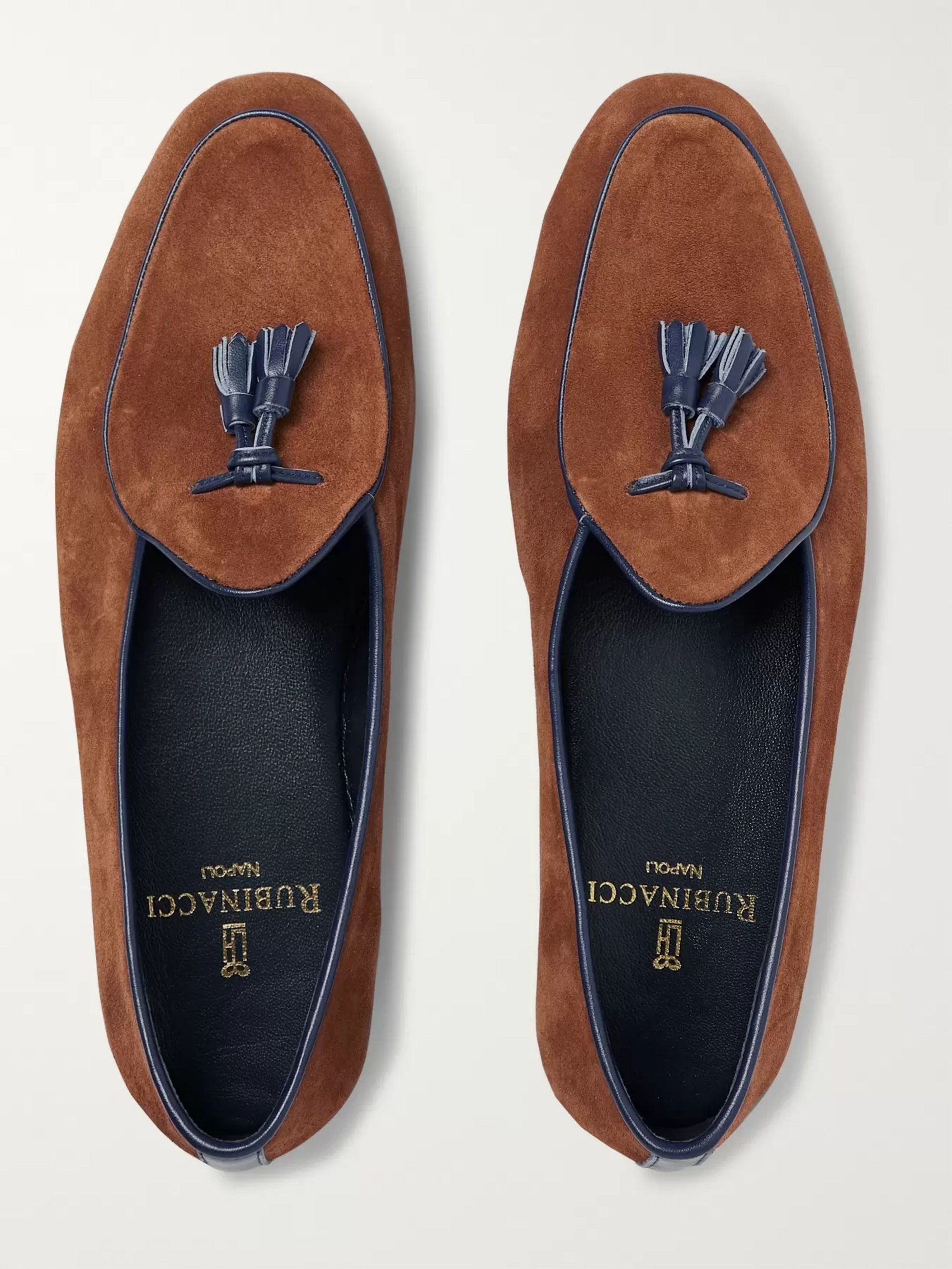 Rubinacci Marphy Suede Tasselled Loafers