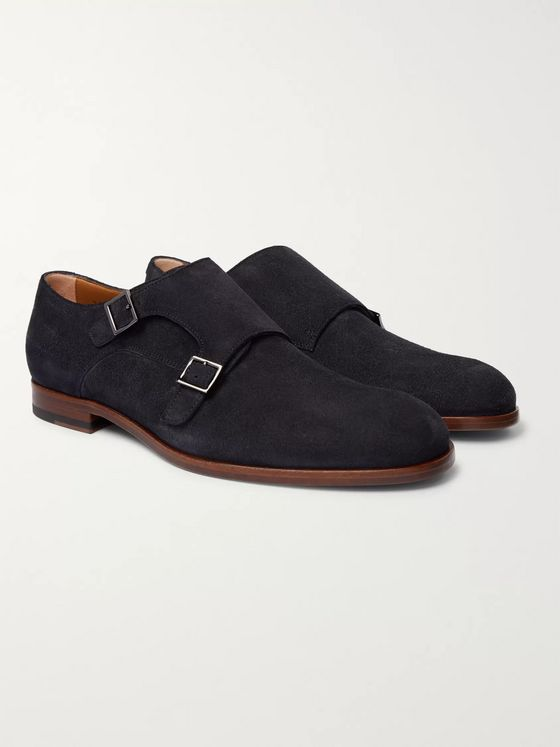 Hugo Boss Brighton Suede Monk-Strap Shoes