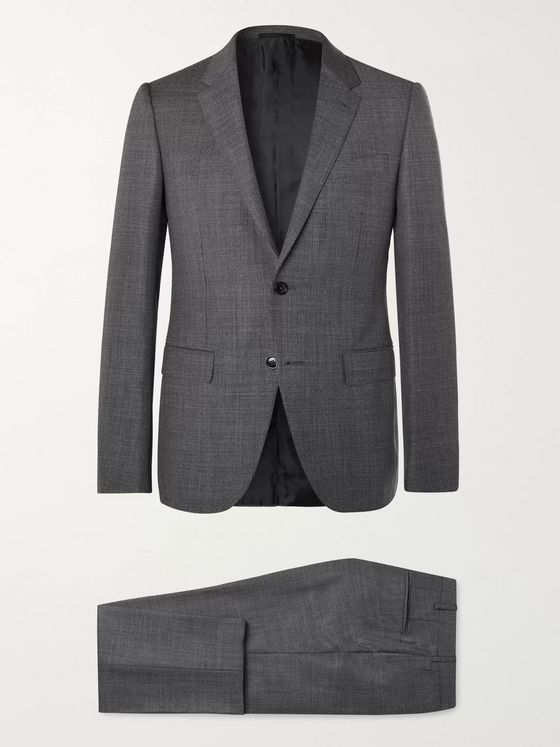 Ermenegildo Zegna Dark-Grey Slim-Fit Wool Suit