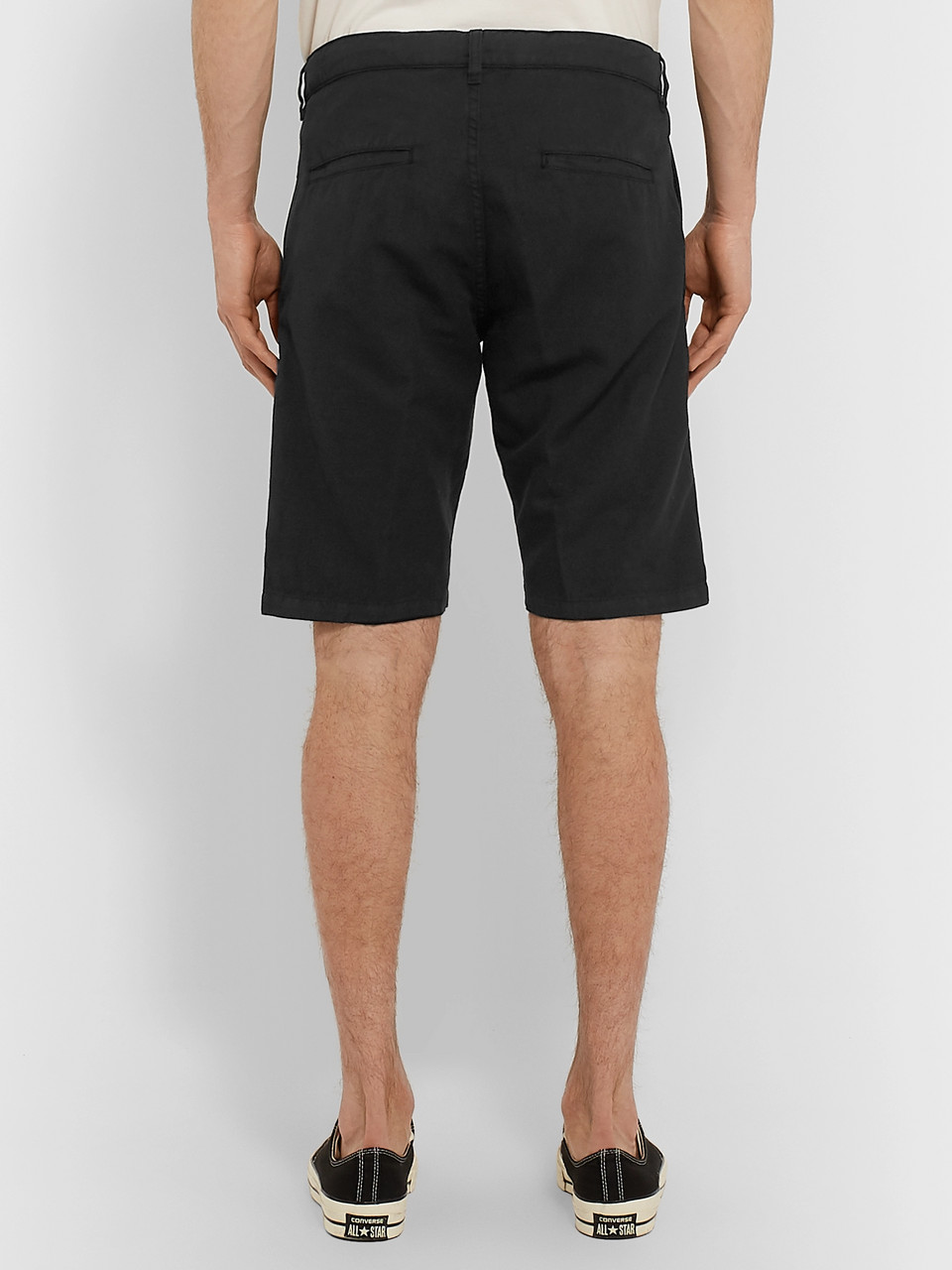 Aspesi Cotton and Linen-Blend Twill Shorts